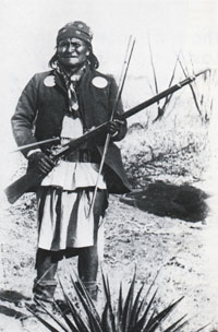 Chiricahua Apache leader Geronimo before his surrender.